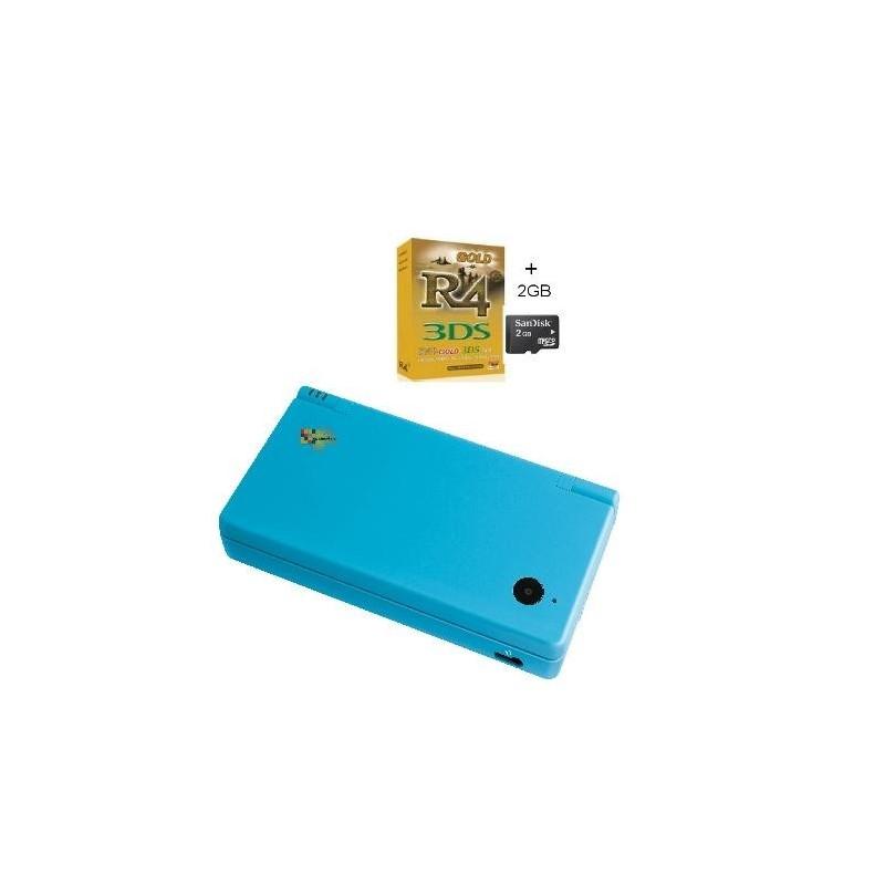Pack consola Nintendo DSi azul cielo + R4i Gold + Micro SD 4