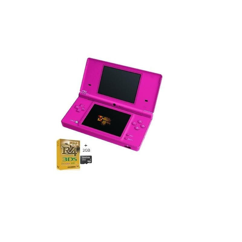 Pack consola Nintendo DSi pink +R4i Gold + Micro SD 4GB