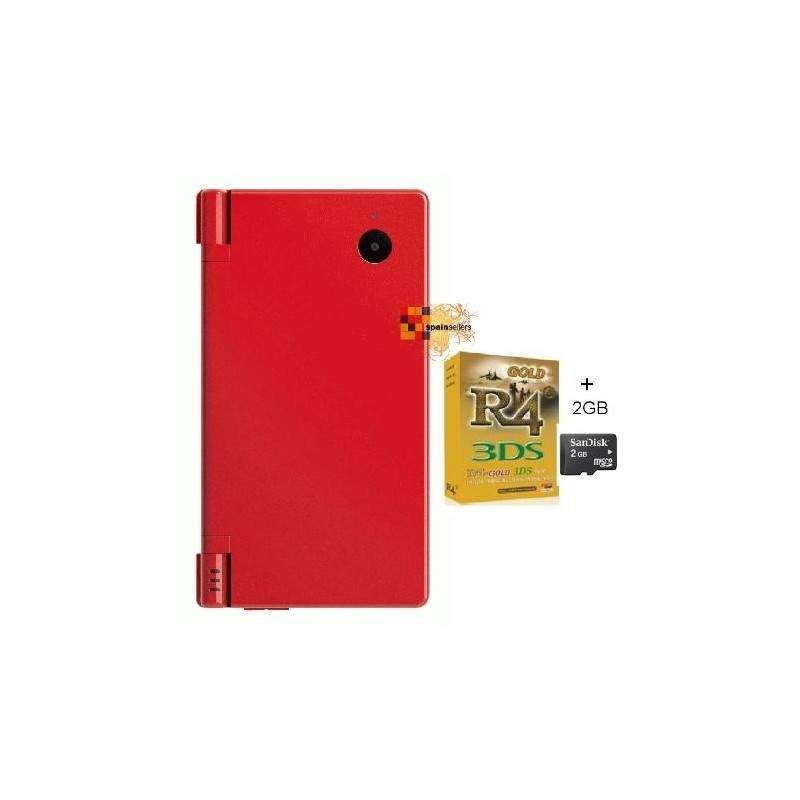 Pack consola Nintendo DSi roja + R4i + Micro SD 4GB